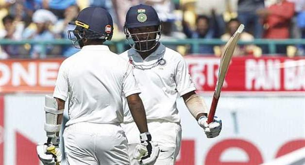 Khabar Odisha:Dharmasala-test-Cheteshwar-Pujara-and-KL-Rahul-struck-fifties-India-2486