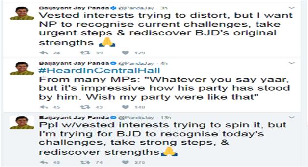 Khabar Odisha:Another-tweet-of-Baijanta-clarifying-his-previous-Tweets