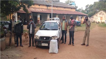 Khabar Odisha:12-kg-of-cannabis-seized-from-Kandhamal-Four-arrested