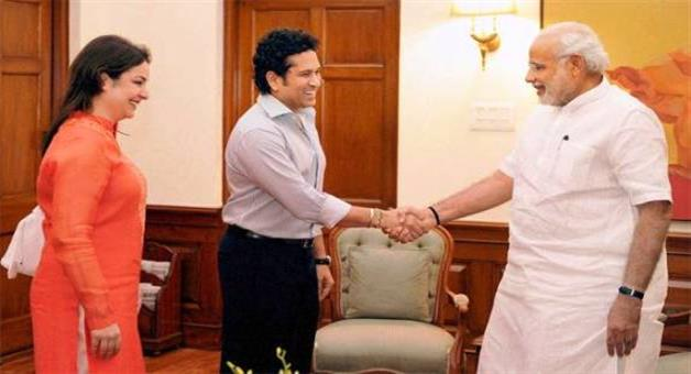 Khabar Odisha:Sachin-meets-Modi-Discuss-the-upcoming-film-details