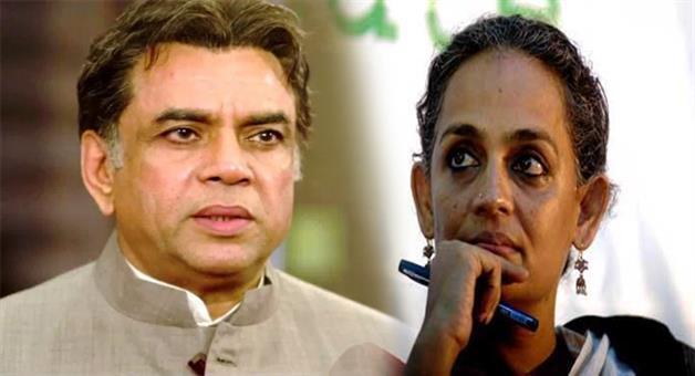 Khabar Odisha:paresh-rawal-tie-Arundhati-Bhattacharya-on-the-army-jeep-not-stone-pelter