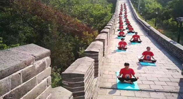 Khabar Odisha:china-celebrates-international-yoga-day-on-great-wall-of-china
