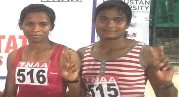 Khabar Odisha:Purnima-Gets-Gold-Jauna-Bags-Silver-In-Inter-State-Athletics-Meet