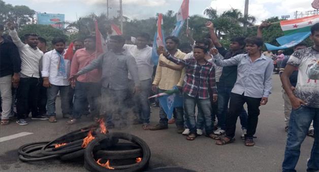 Khabar Odisha:Odisha-Pradesh-Student-Congress-protest-over-atttack-on-journalist