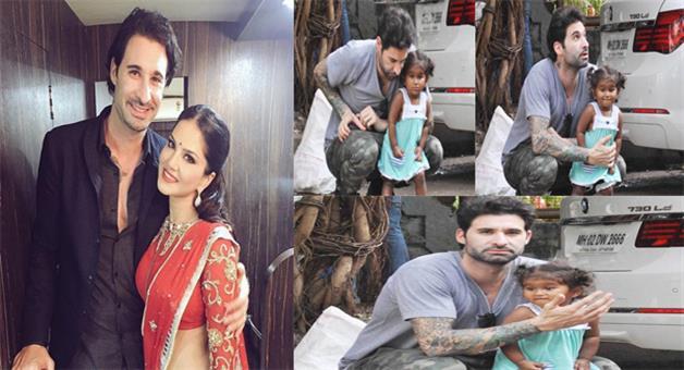 Khabar Odisha:sunny-daugher-misha-spends-quality-time-with-father