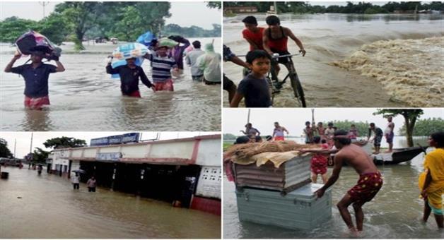 Khabar Odisha:Flood-clime-264-in-Bihar-UP-and-Assam