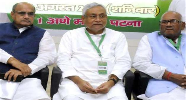 Khabar Odisha:jdu-nitish-kumar-sharad-yadav-hold-separate-meeting