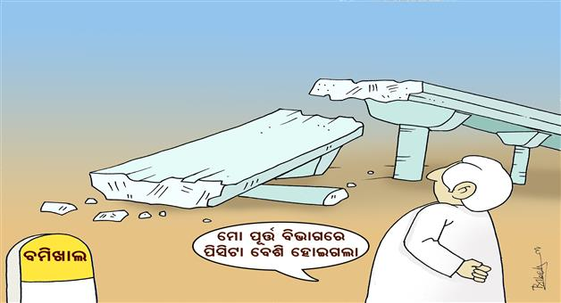 Cartoon Odisha: Bomikhal-Bridge-Collapsed-Naveen-Pattnaik-Cartoon