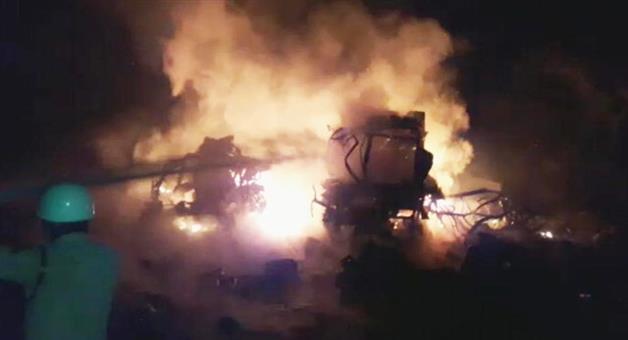 Khabar Odisha:punjab-sangrur-fire-cracker-factory-blast-many-killed-