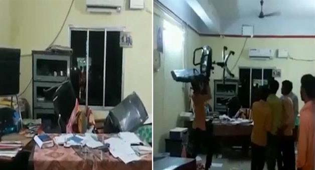 Khabar Odisha:Pre-poll-violence-in-madhusudan-law-college--kamakhyanagar-college