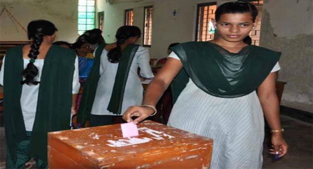 Khabar Odisha:Student-Union-Poll-voting-starts