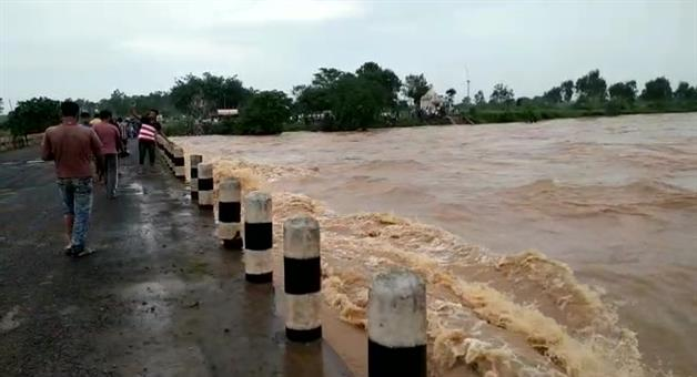 Khabar Odisha:Rain-Heavy-in-Odisha-flood-Alert-in-MayurBhanja