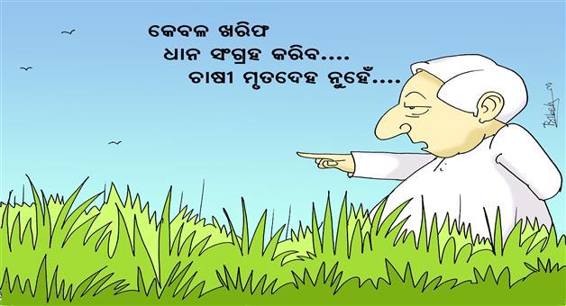 Khabar Odisha:Khabar-Odisha-Cartoon-Farmer-Suicide