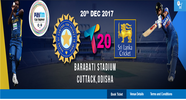 Khabar Odisha:barabati-t-20-India-vs-Srilanka-Online-Ticket-Booking