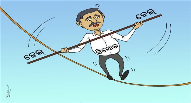Cartoon Odisha: Seashore-Chit-fund-MD-Prasanta-Das-Arrested