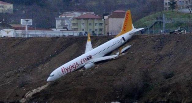 Khabar Odisha:passenger-plane-skids-off-runway-and-gets-stuck-metres-away-from-black-sea-in-turkey