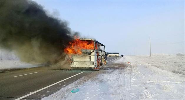 Khabar Odisha:52-killed-as-bus-catches-fire-in-kazakhstan
