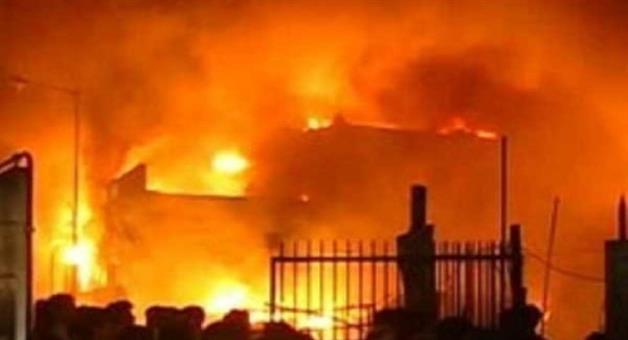 Khabar Odisha:fire-in-plastic-godown-in-bawana-industrial-area-in-delhi