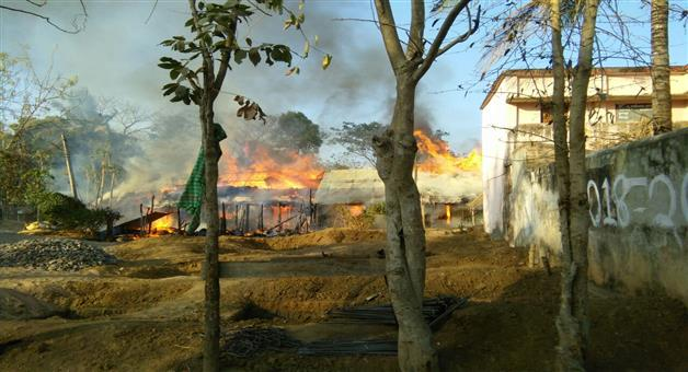 Khabar Odisha:Break-Fire-At-dhobasahi--Ganjam