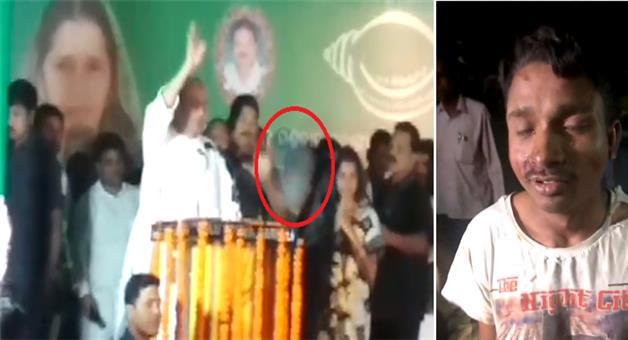 Khabar Odisha:Shoes-hurled-at-CM-Naveen-Patnaik-Kumbhari-in-Barpali-Issue