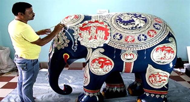 Khabar Odisha:Fiber-elephant-of-pranab-das-to-participate-in-london-exhibition