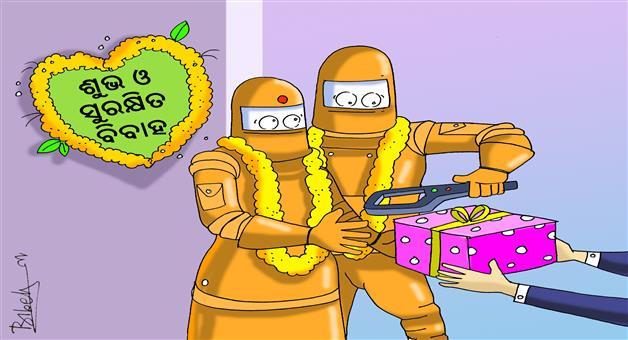 Khabar Odisha:Bomb-In-Marriage-Gift-Packet-cartoon