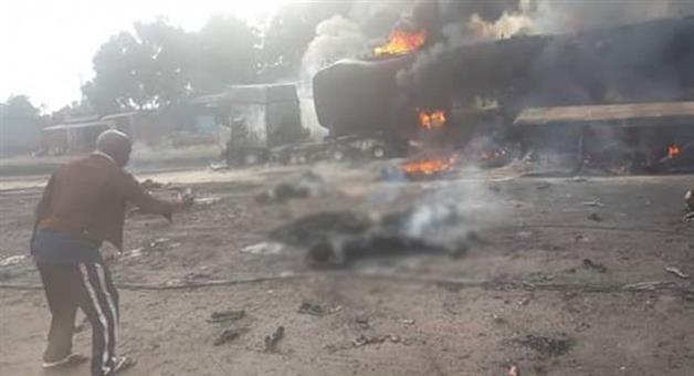 Khabar Odisha:50-killed-in-fuel-tanker-road-crash-in-congo