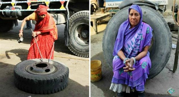 Khabar Odisha:indian-only-truck-mechanic-shanti-devi