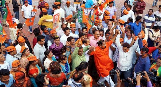 Khabar Odisha:BJP-Celebrated-Bijaya-Ustav--at-party-office