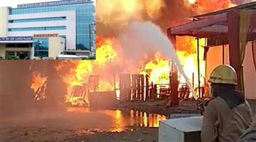 Khabar Odisha:A-fire-broke-out-at-Sadguru-covid-Hospital-in-Cuttack-district