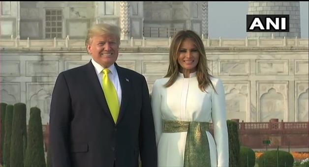 Khabar Odisha:Agra-US-President-Donald-Trump-and-First-Lady-Melania-Trump-at-the-Taj-Mahal