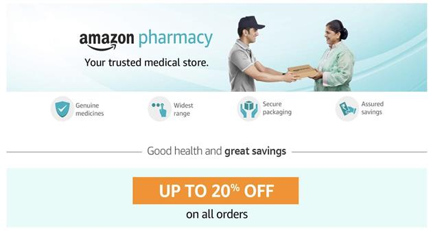 Khabar Odisha:Amazon-launches-online-pharmacy-in-new-contest-with-drug-retail