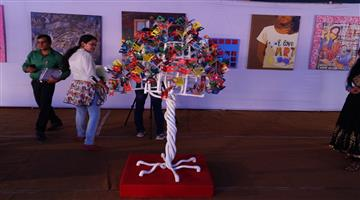 Khabar Odisha:Art-Gallery-Made-up-of-Waste-products