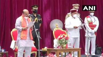 Khabar Odisha:Basavraj-Bomaai-has-been-sworn-in-as-the-23rd-Chief-Minister-of-Karnataka