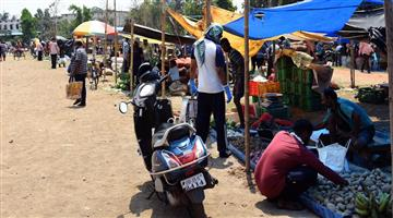 Khabar Odisha:Bike-restricted-for-buying-Vegitables