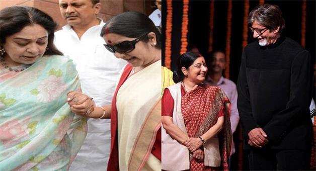 Khabar Odisha:Bollywood-stars-give-homage-to-sushma-swaraj