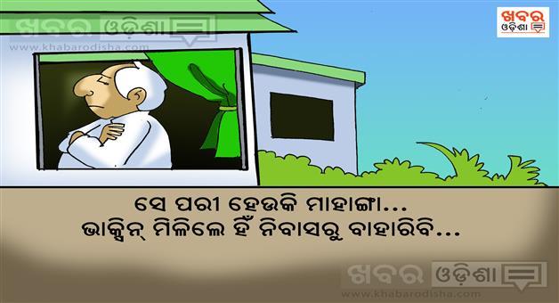Khabar Odisha:Cartoon-Naveen-pattnaik-in-Naveen-nivas