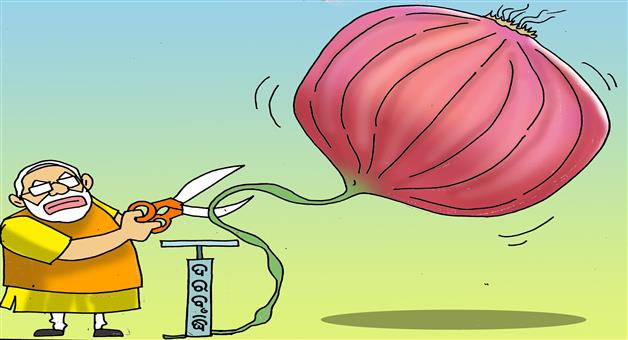 Khabar Odisha:Cartoon-Onion-rate-reduced-by-Modi-Govt