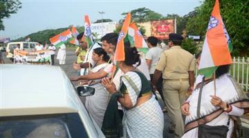 Khabar Odisha:Congress-calls-up-chakajam-in-twin-city