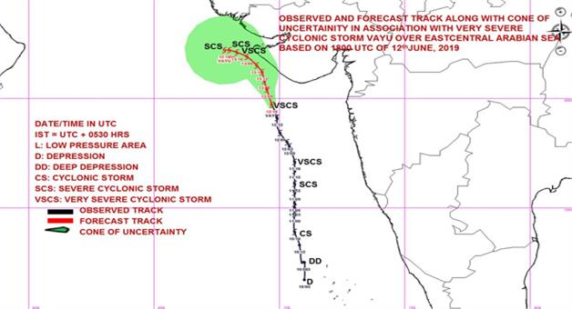 Khabar Odisha:Cyclonic-Storm-Vayu-may-not-hit-at--Porbandar