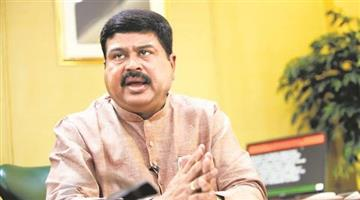Khabar Odisha:Dharmendra-Pradhan-agglutinated-56-CNG-Station-through-Video-conferencing