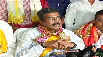 Khabar Odisha:Dharmendra-pradhan-puri-visit