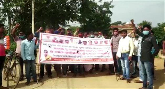 Khabar Odisha:Farmers-Protest-in-Bargarh