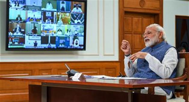 Khabar Odisha:Fearful-of-carona-the-Union-Cabinet-is-sitting-for-the-first-time-through-video-conferencing