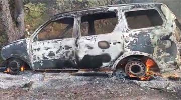 Khabar Odisha:Fire-Mishap-in-Scorpio-with-full-of-Ganza