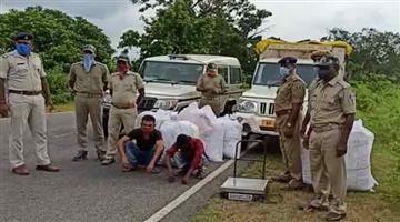 Khabar Odisha:Flowers-coming-from-Kolkata-were-transporting-cannabis-from-Odisha-two-cannabis-mafias-arrested