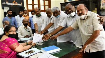 Khabar Odisha:Former-Prime-Minister-HD-Deve-Gowda-has-filed-his-nomination-papers-for-the-Rajya-Sabha-elections