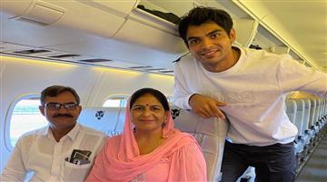 Khabar Odisha:Golden-Boy-Neeraj-Chopra-fulfilled-his-childhood-dream-by-parents-first-plane-ride