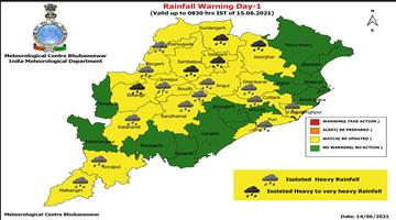 Khabar Odisha:Heavy-to-very-heavy-rainfall-is-expected-in-five-districts-of-the-state-Yellow-Warning-continued