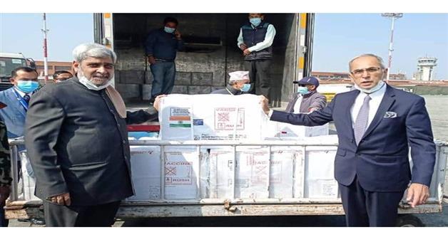 Khabar Odisha:International-COVID-19-vaccines-reach-Nepal-Indian-envoy-Vinay-Mohan-Kwatra-says-Promise-fulfilled
